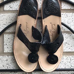 💯 Jack Rogers patent leather sandals - EUC